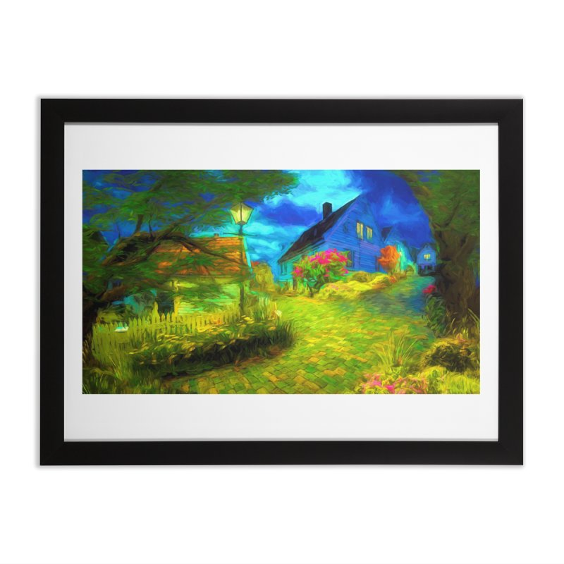 Bright Colors Home Framed Fine Art Print by Jasmina Seidl's Artist Shop
