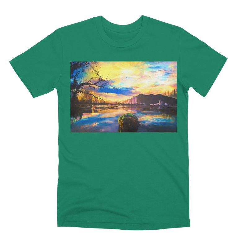 Reflections Men's Premium T-Shirt by Jasmina Seidl's Artist Shop