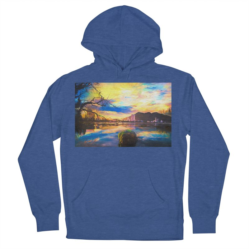 Reflections Women's French Terry Pullover Hoody by Jasmina Seidl's Artist Shop