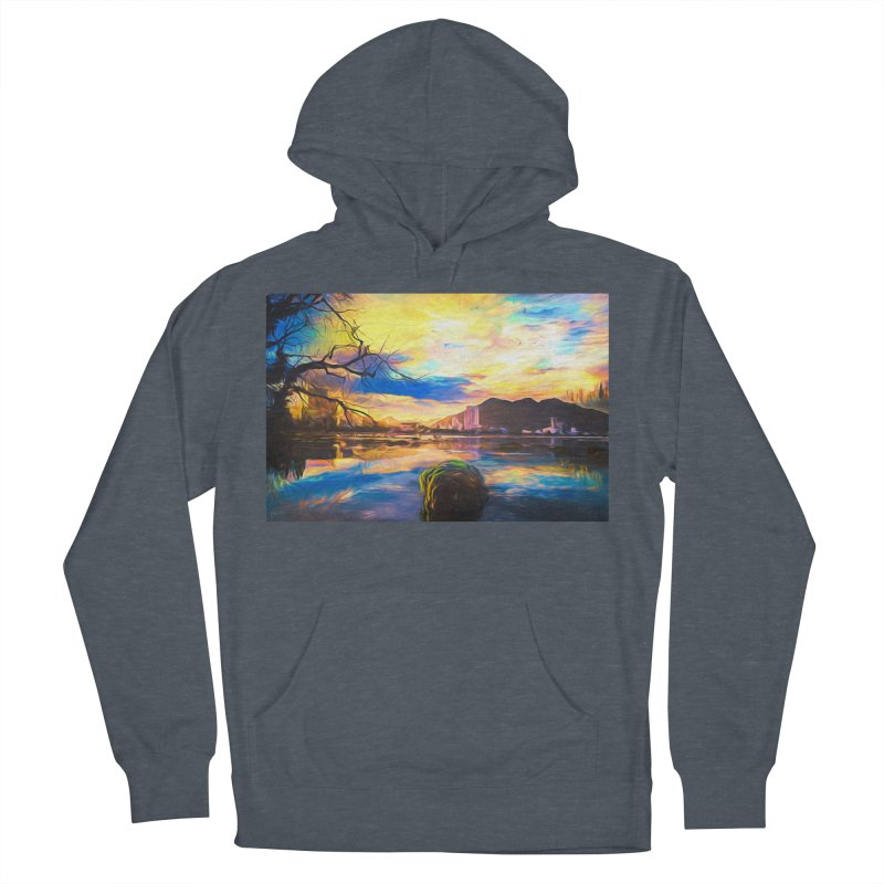 Reflections Men's French Terry Pullover Hoody by Jasmina Seidl's Artist Shop
