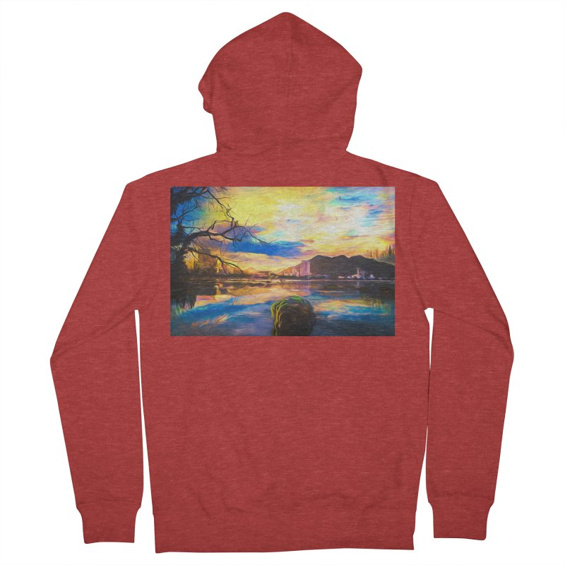 Reflections Women's French Terry Zip-Up Hoody by Jasmina Seidl's Artist Shop