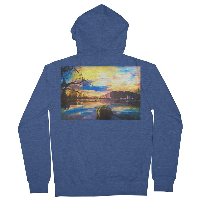 Reflections Men's French Terry Zip-Up Hoody by Jasmina Seidl's Artist Shop
