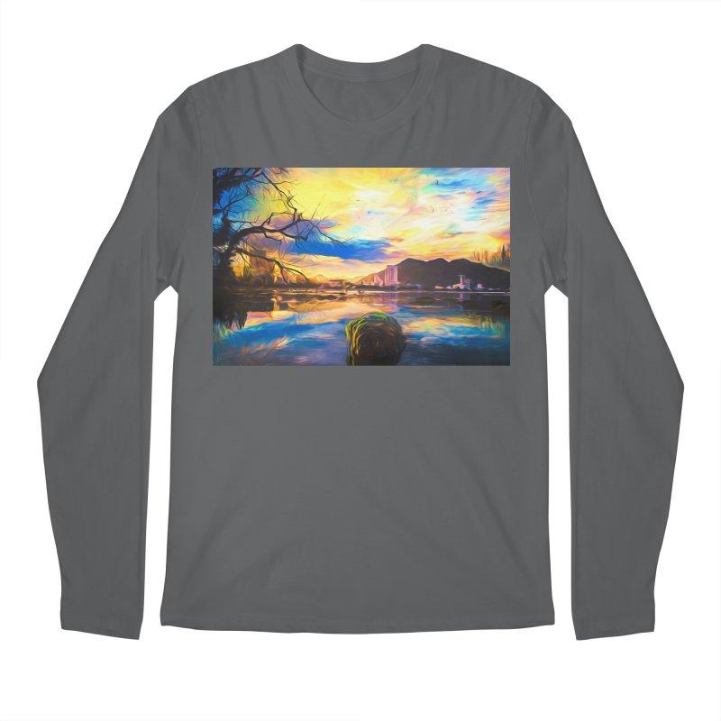 Reflections Men's Regular Longsleeve T-Shirt by Jasmina Seidl's Artist Shop