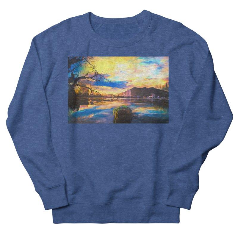 Reflections Men's French Terry Sweatshirt by Jasmina Seidl's Artist Shop