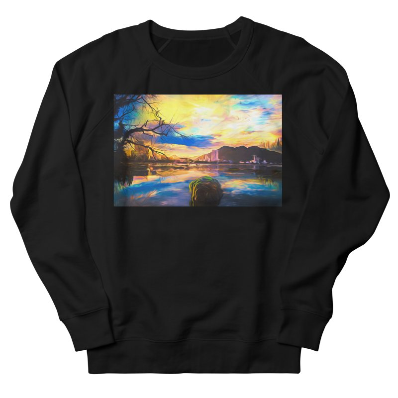 Reflections Men's French Terry Sweatshirt by Jasmina Seidl's Artist Shop