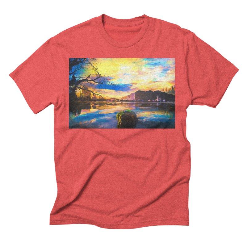 Reflections Men's Triblend T-Shirt by Jasmina Seidl's Artist Shop
