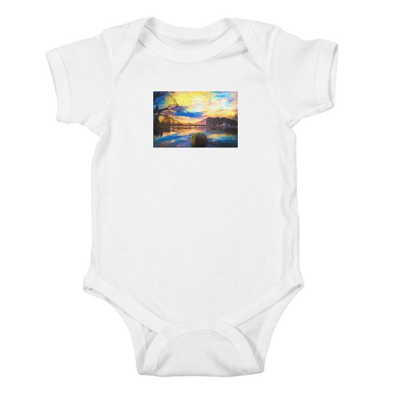 Reflections Kids Baby Bodysuit by Jasmina Seidl's Artist Shop