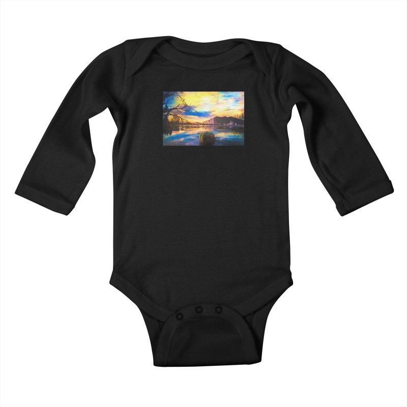Reflections Kids Baby Longsleeve Bodysuit by Jasmina Seidl's Artist Shop