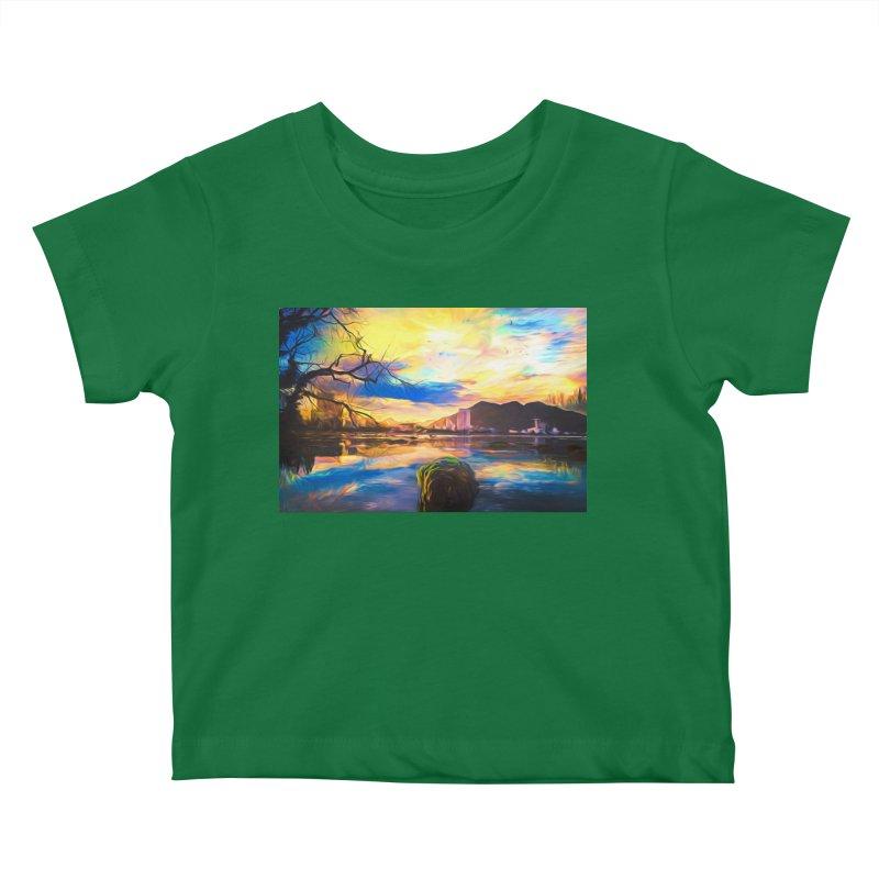 Reflections Kids Baby T-Shirt by Jasmina Seidl's Artist Shop