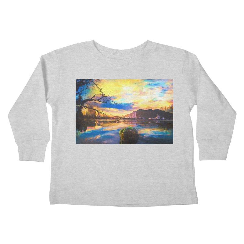 Reflections Kids Toddler Longsleeve T-Shirt by Jasmina Seidl's Artist Shop