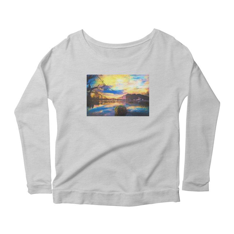 Reflections Women's Scoop Neck Longsleeve T-Shirt by Jasmina Seidl's Artist Shop