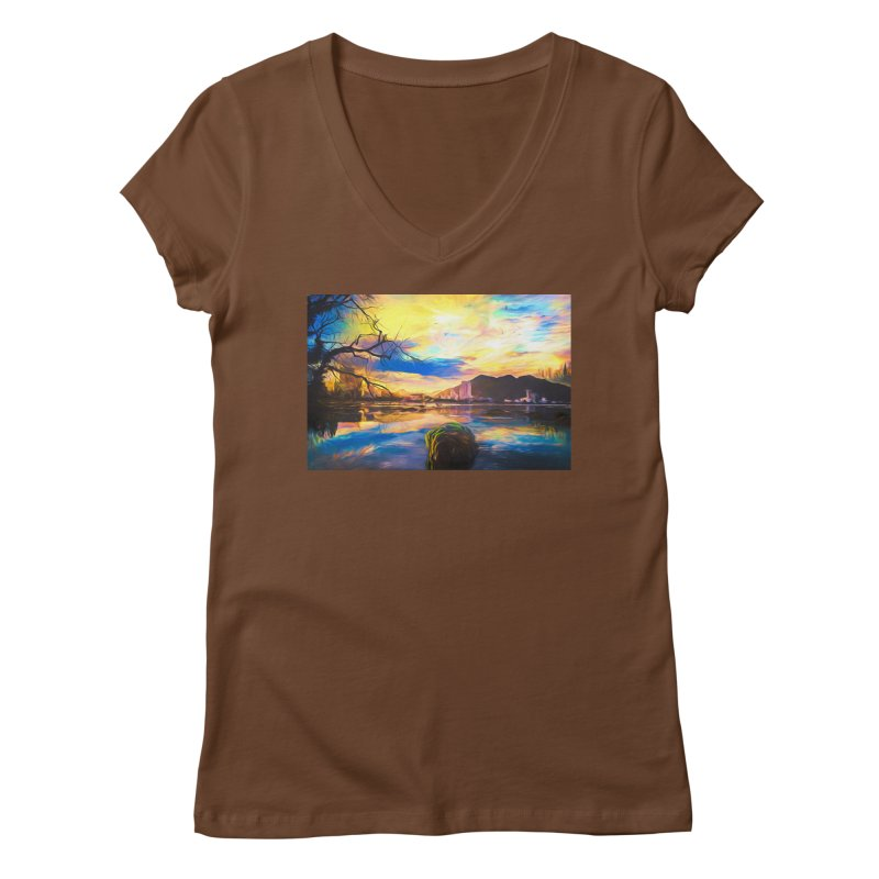 Reflections Women's Regular V-Neck by Jasmina Seidl's Artist Shop