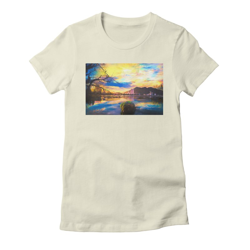Reflections Women's Fitted T-Shirt by Jasmina Seidl's Artist Shop