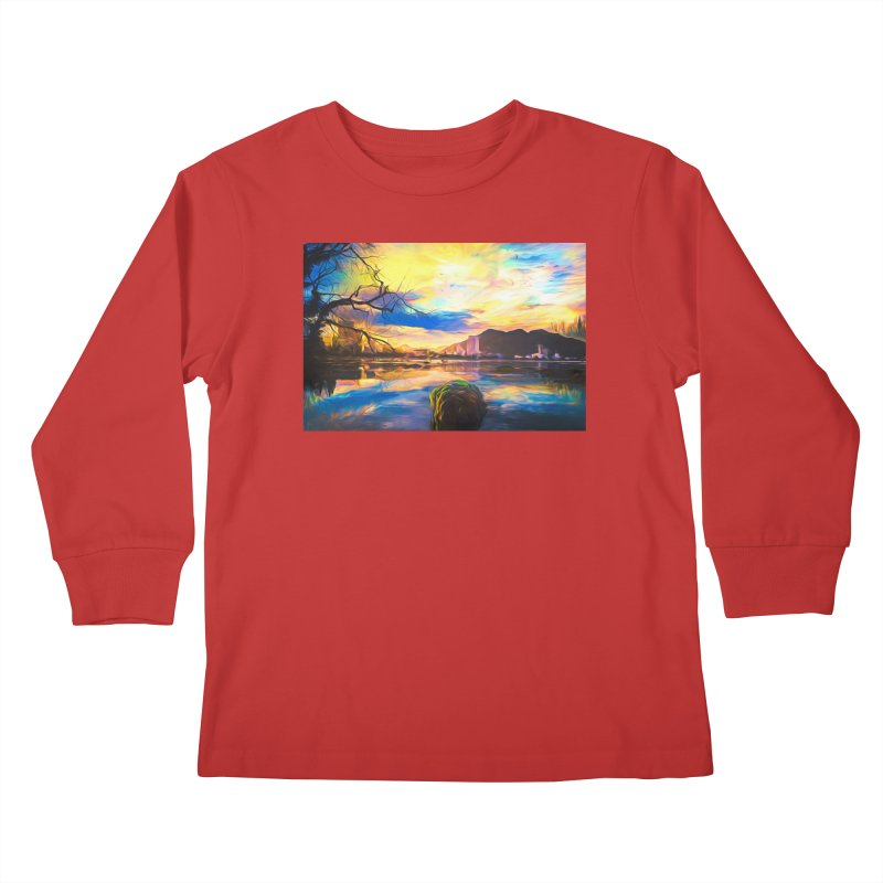 Reflections Kids Longsleeve T-Shirt by Jasmina Seidl's Artist Shop