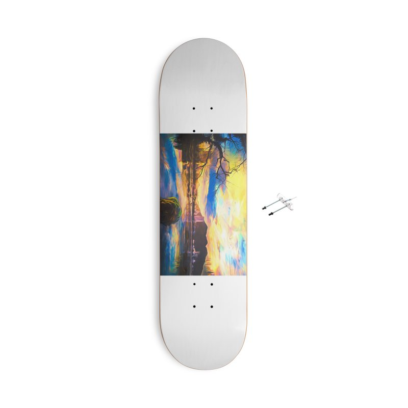 Reflections Accessories With Hanging Hardware Skateboard by Jasmina Seidl's Artist Shop