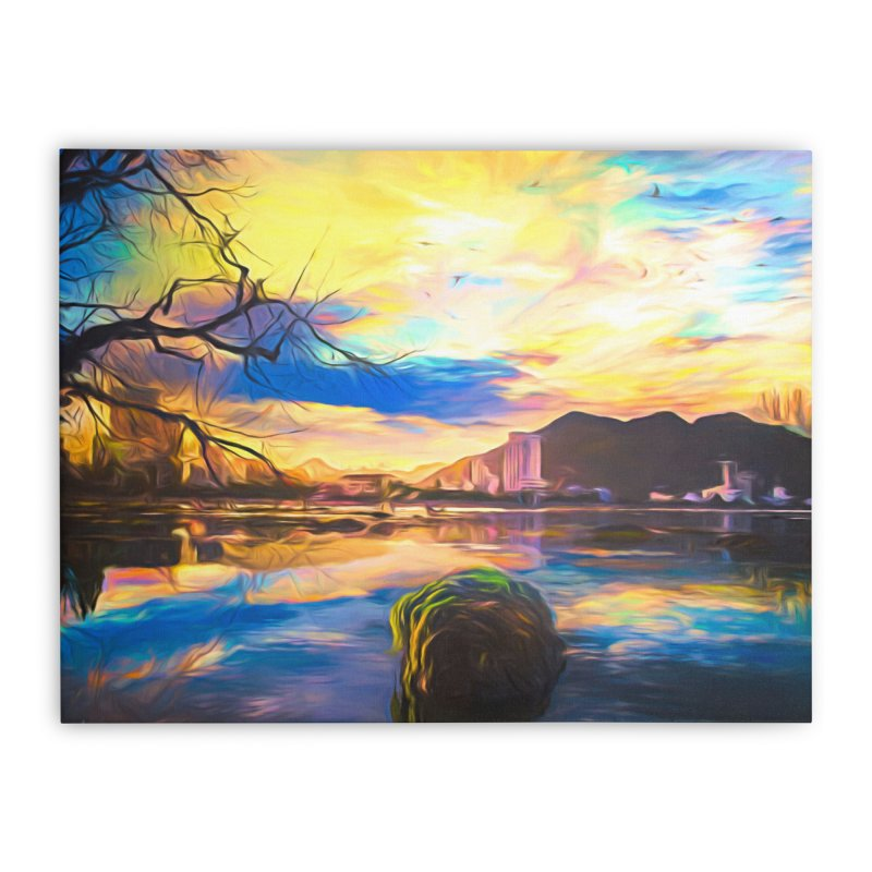 Reflections Home Stretched Canvas by Jasmina Seidl's Artist Shop