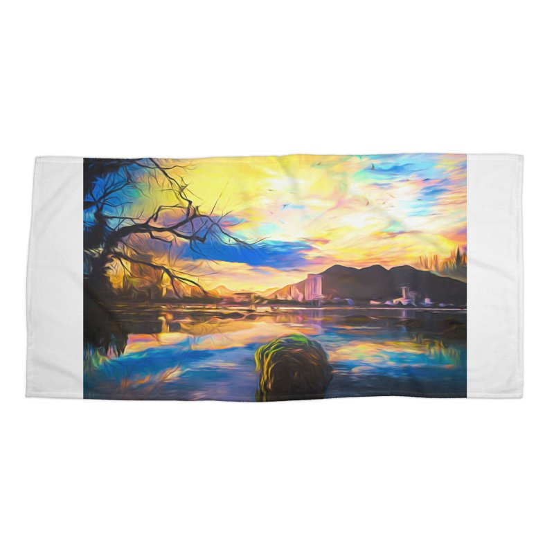 Reflections Accessories Beach Towel by Jasmina Seidl's Artist Shop