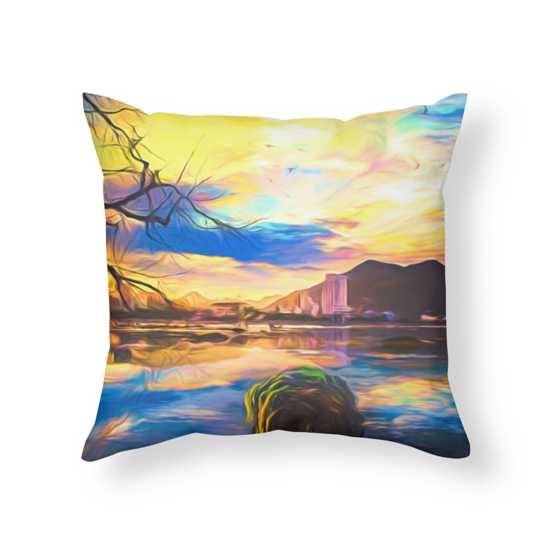 Reflections Home Throw Pillow by Jasmina Seidl's Artist Shop