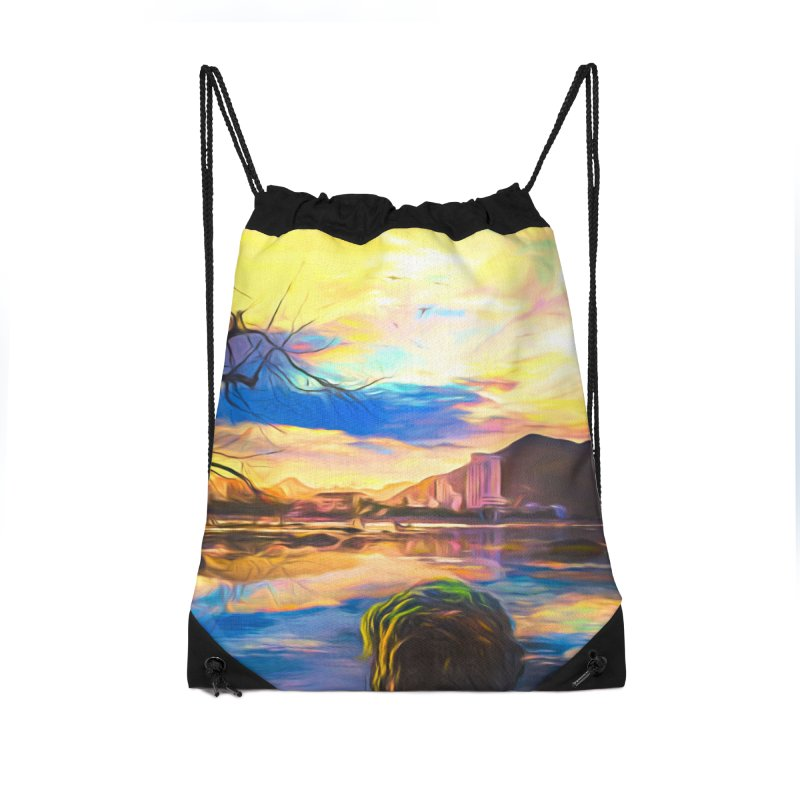 Reflections Accessories Drawstring Bag Bag by Jasmina Seidl's Artist Shop