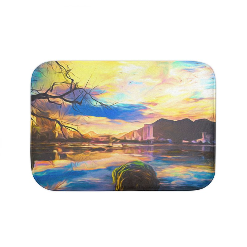 Reflections Home Bath Mat by Jasmina Seidl's Artist Shop