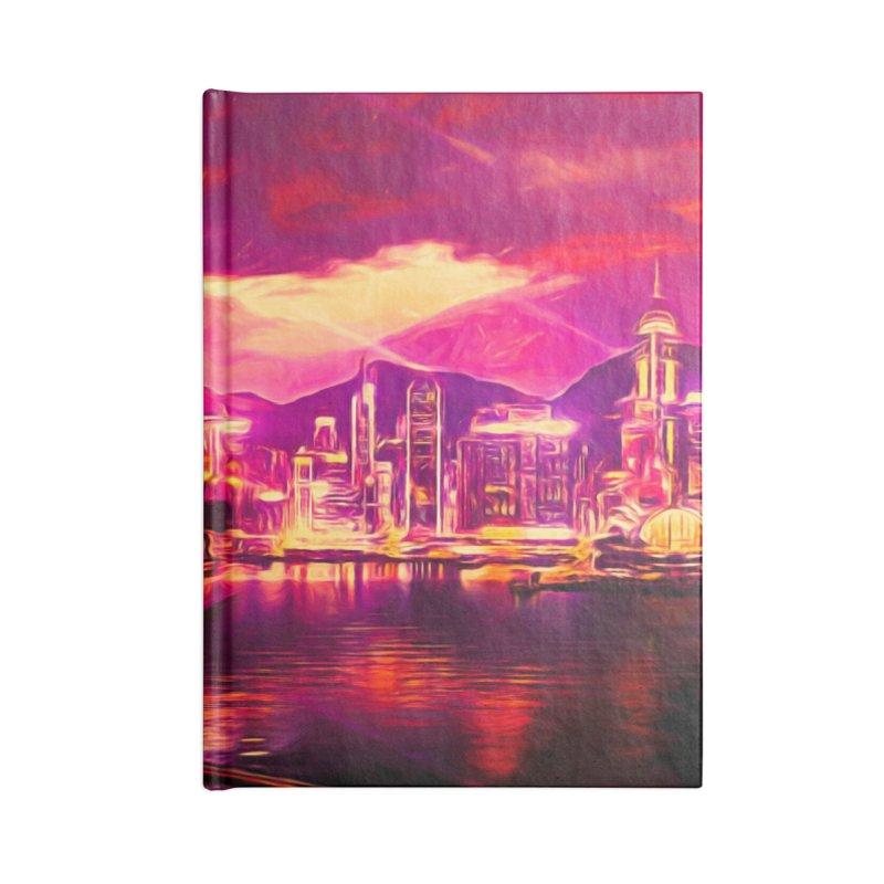 Purple City Accessories Blank Journal Notebook by Jasmina Seidl's Artist Shop