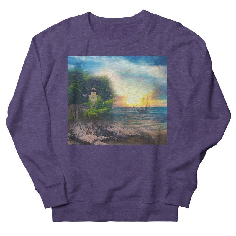 Sail Peacefully Women's French Terry Sweatshirt by Jasmina Seidl's Artist Shop