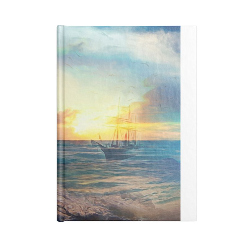 Sail Peacefully Accessories Blank Journal Notebook by Jasmina Seidl's Artist Shop