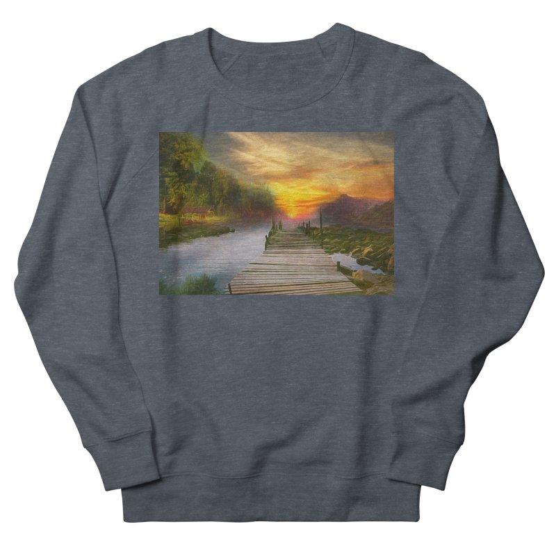 Idyllic Landscape Women's French Terry Sweatshirt by Jasmina Seidl's Artist Shop