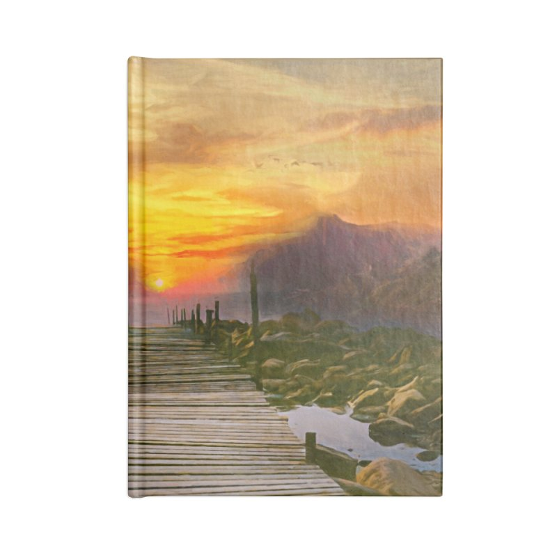 Idyllic Landscape Accessories Blank Journal Notebook by Jasmina Seidl's Artist Shop