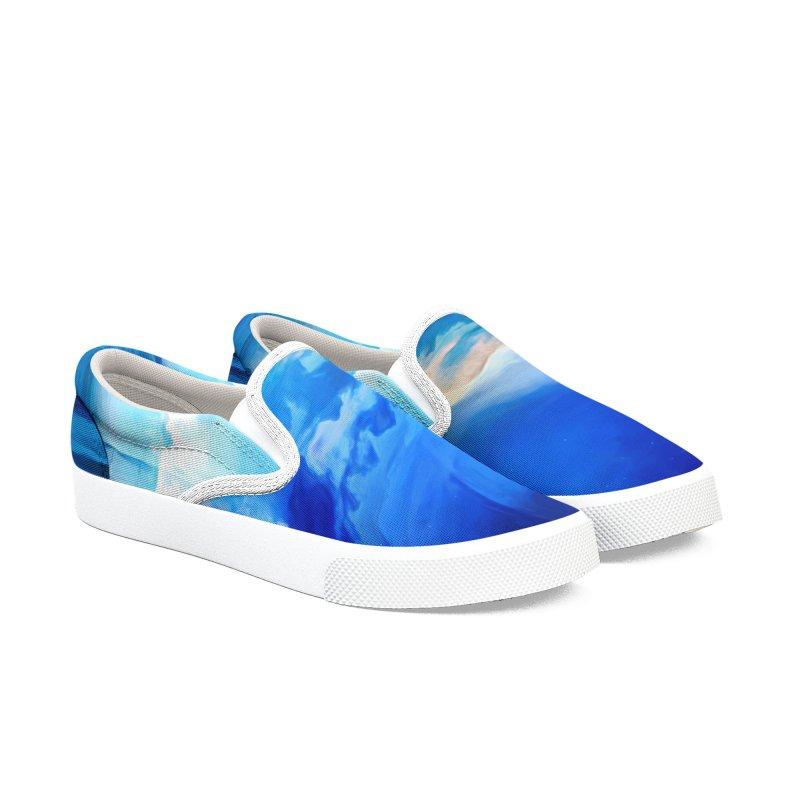 Blue Dreams Men's Slip-On Shoes by Jasmina Seidl's Artist Shop