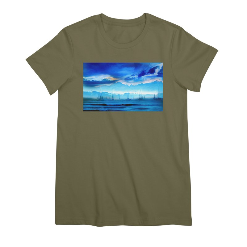 Blue Dreams Women's Premium T-Shirt by Jasmina Seidl's Artist Shop