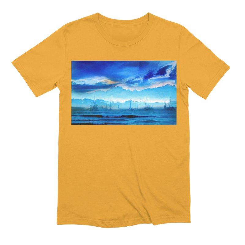 Blue Dreams Men's Extra Soft T-Shirt by Jasmina Seidl's Artist Shop