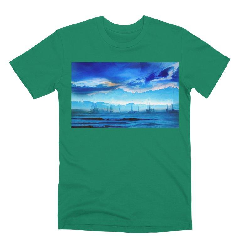 Blue Dreams Men's Premium T-Shirt by Jasmina Seidl's Artist Shop