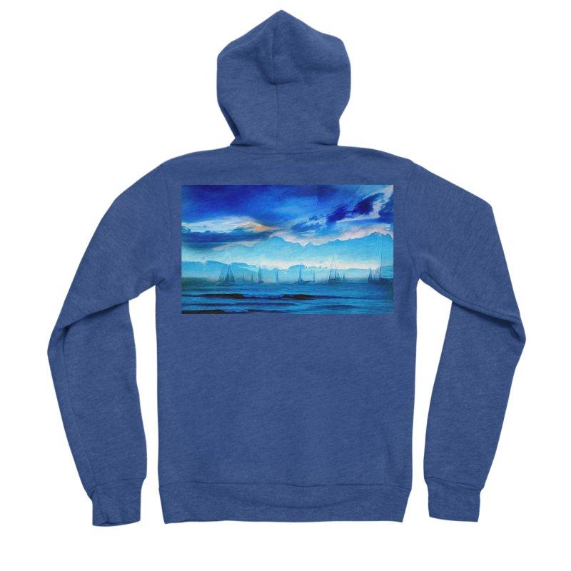 Blue Dreams Men's Sponge Fleece Zip-Up Hoody by Jasmina Seidl's Artist Shop