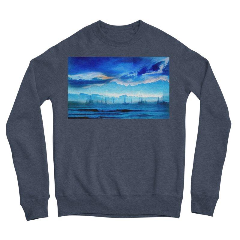 Blue Dreams Women's Sponge Fleece Sweatshirt by Jasmina Seidl's Artist Shop