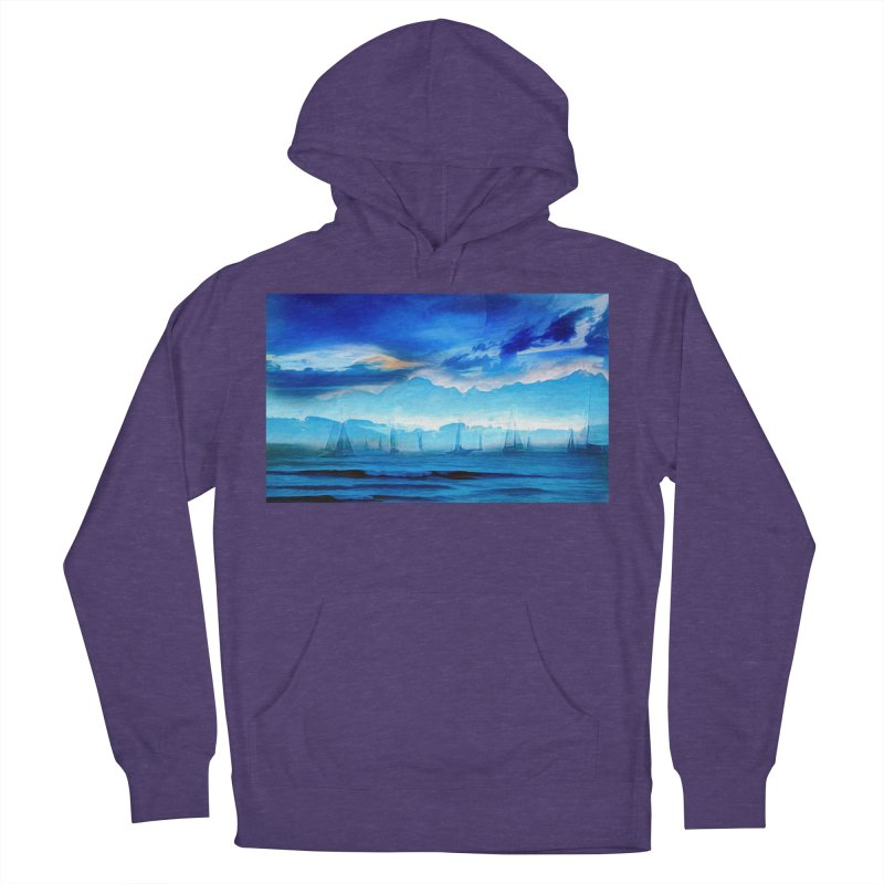 Blue Dreams Men's French Terry Pullover Hoody by Jasmina Seidl's Artist Shop