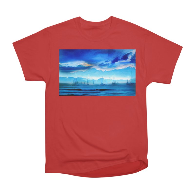 Blue Dreams Women's Heavyweight Unisex T-Shirt by Jasmina Seidl's Artist Shop