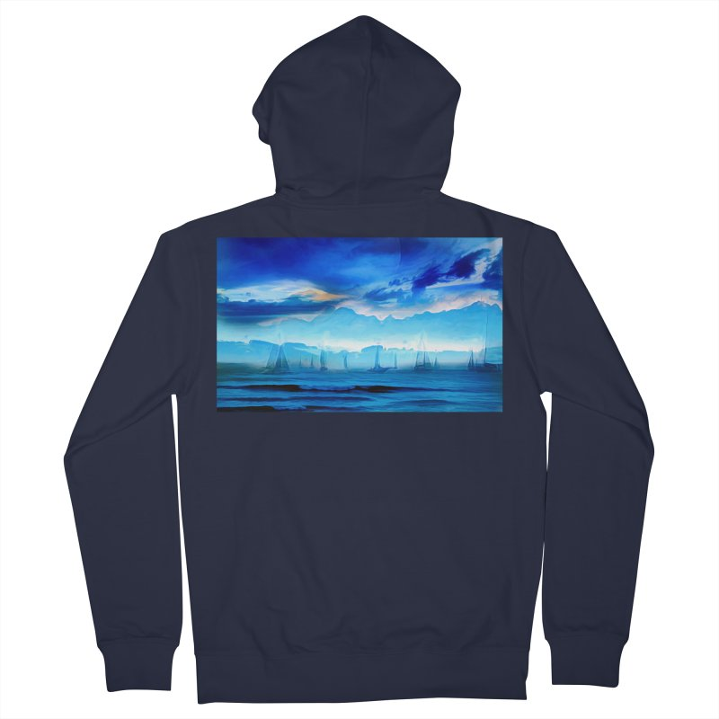 Blue Dreams Women's French Terry Zip-Up Hoody by Jasmina Seidl's Artist Shop