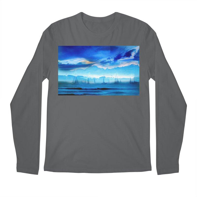 Blue Dreams Men's Regular Longsleeve T-Shirt by Jasmina Seidl's Artist Shop