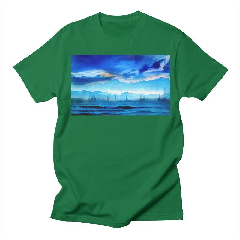 Blue Dreams Men's Regular T-Shirt by Jasmina Seidl's Artist Shop