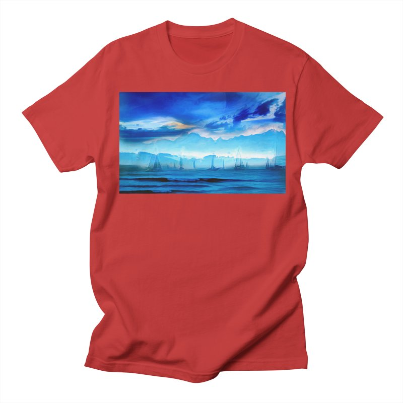 Blue Dreams Men's Regular T-Shirt by Jasmina Seidl's Artist Shop