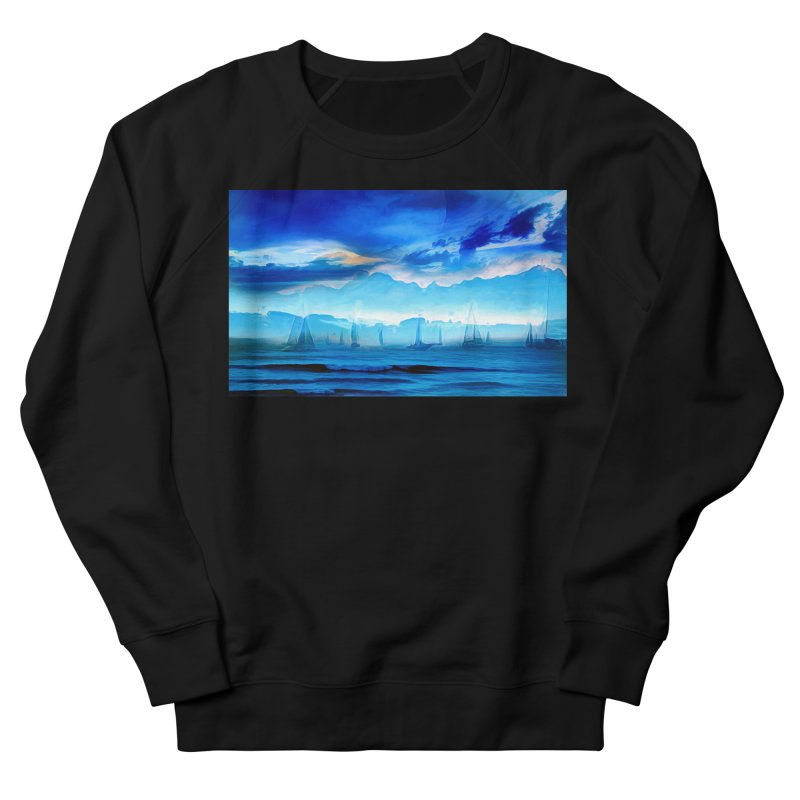 Blue Dreams Men's French Terry Sweatshirt by Jasmina Seidl's Artist Shop