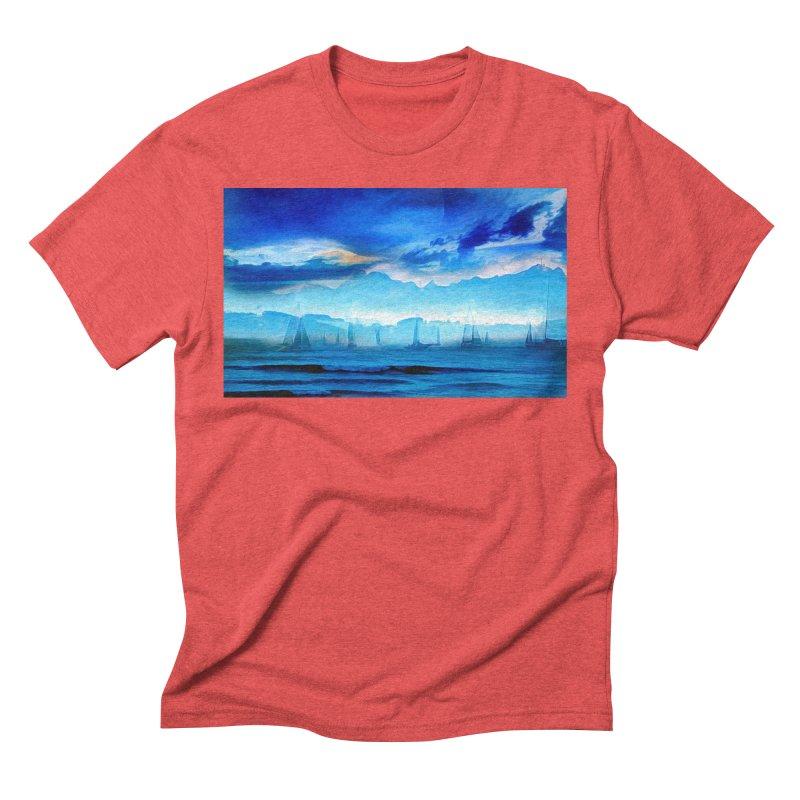 Blue Dreams Men's Triblend T-Shirt by Jasmina Seidl's Artist Shop