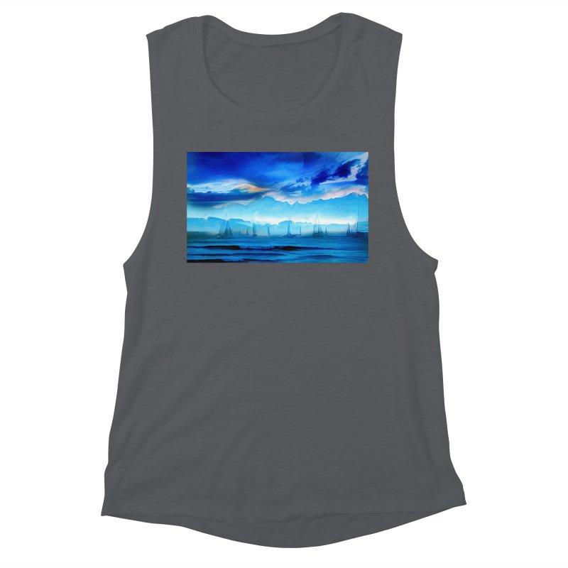 Blue Dreams Women's Muscle Tank by Jasmina Seidl's Artist Shop