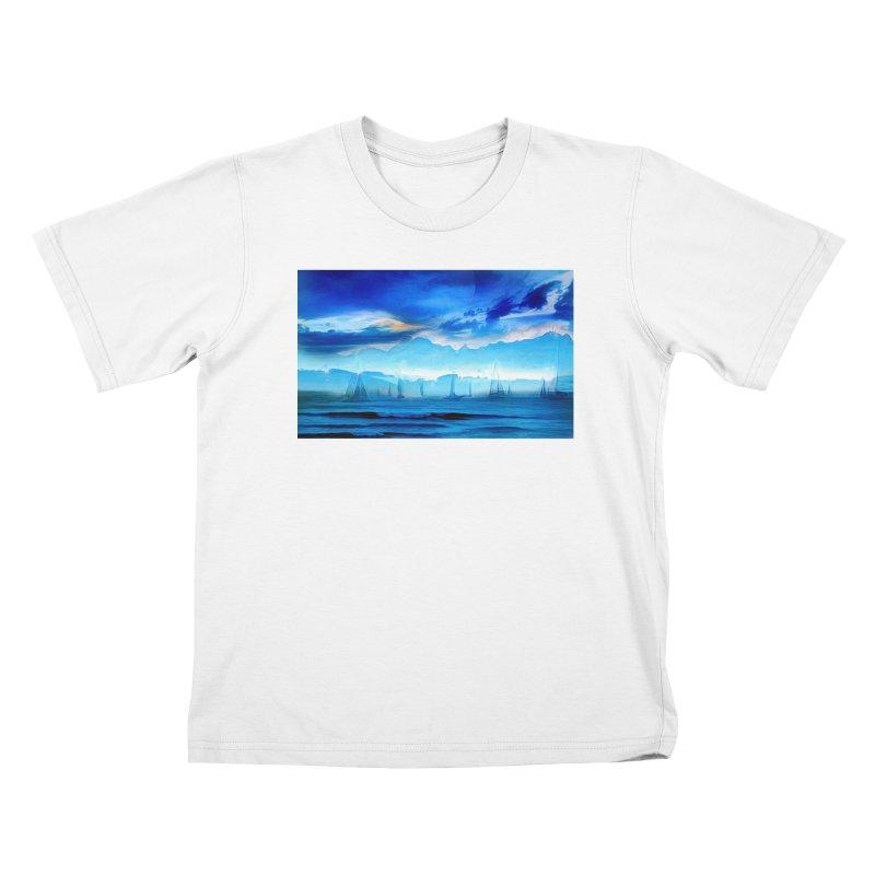 Blue Dreams Kids T-Shirt by Jasmina Seidl's Artist Shop