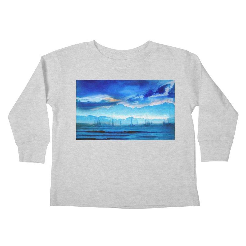 Blue Dreams Kids Toddler Longsleeve T-Shirt by Jasmina Seidl's Artist Shop
