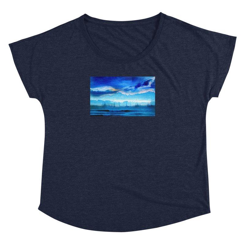 Blue Dreams Women's Dolman Scoop Neck by Jasmina Seidl's Artist Shop