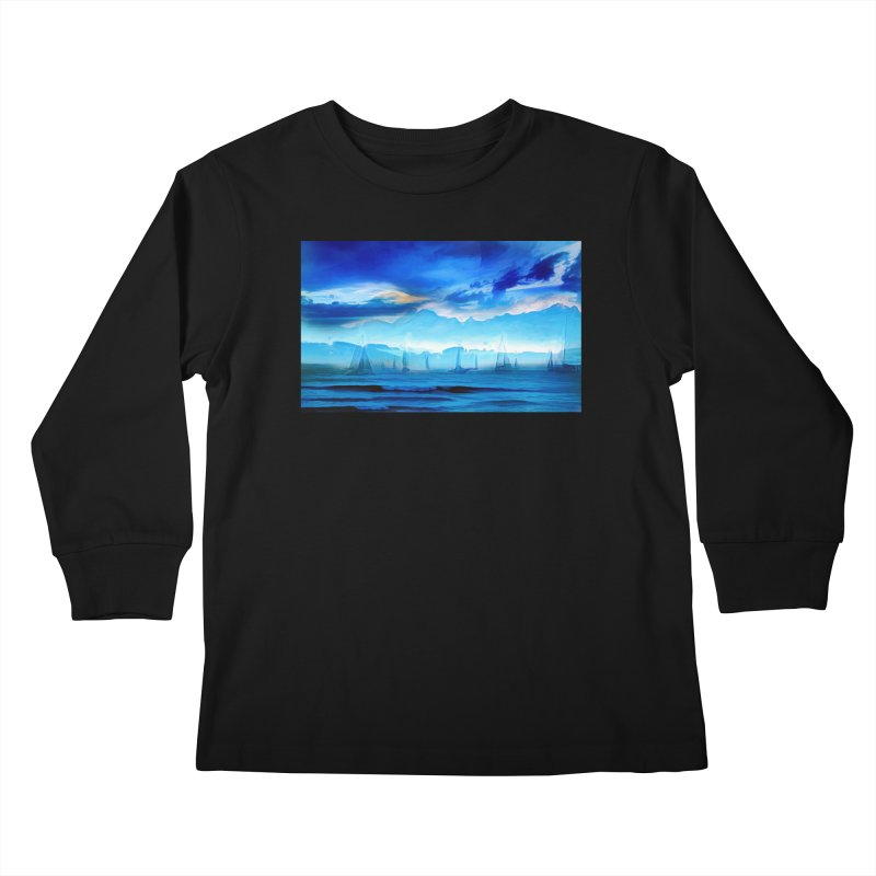 Blue Dreams Kids Longsleeve T-Shirt by Jasmina Seidl's Artist Shop