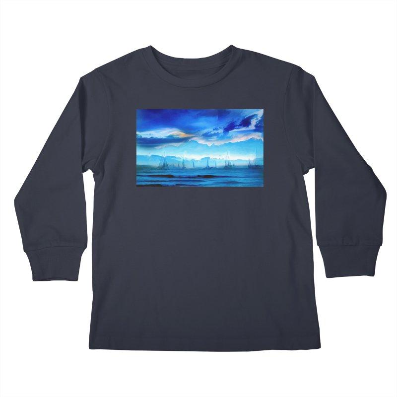 Blue Dreams Kids Longsleeve T-Shirt by Jasmina Seidl's Artist Shop