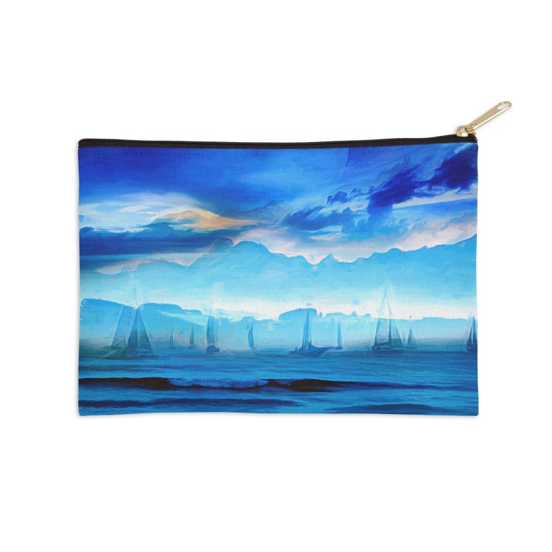 Blue Dreams Accessories Zip Pouch by Jasmina Seidl's Artist Shop